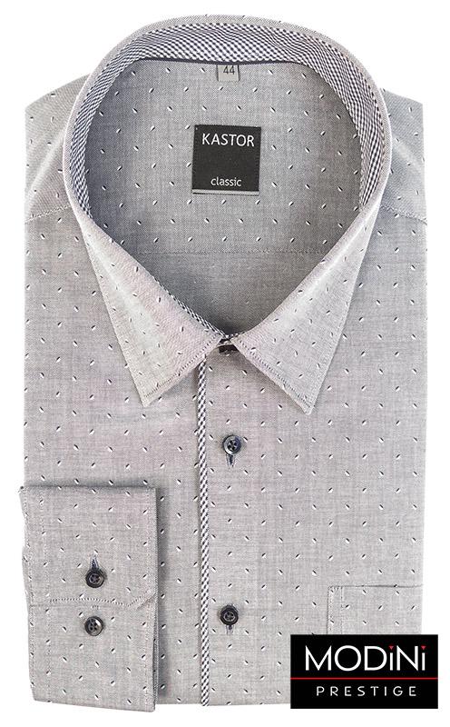szara koszula kastor czarno bialy wzor