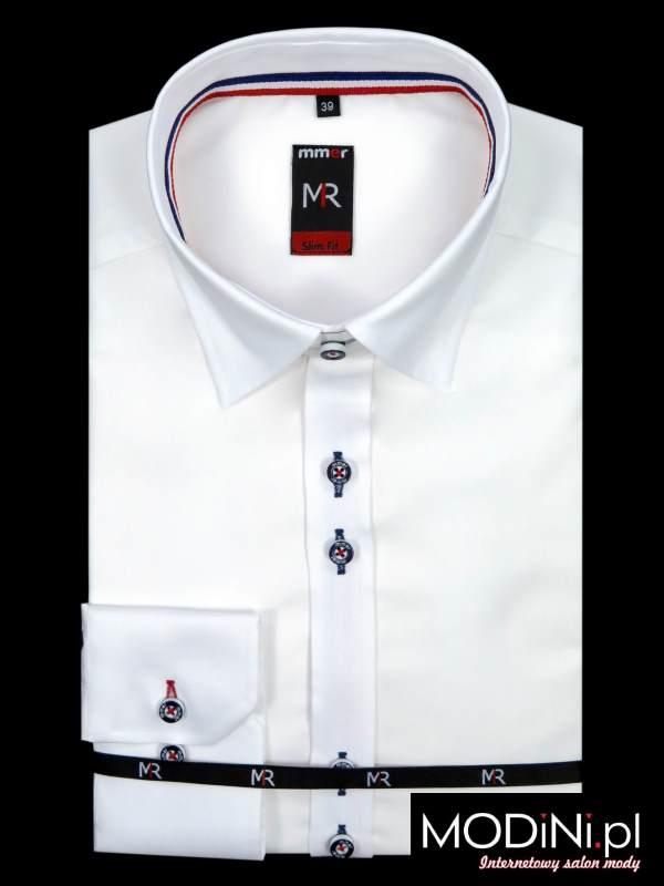 Biała koszula 100% bawełny