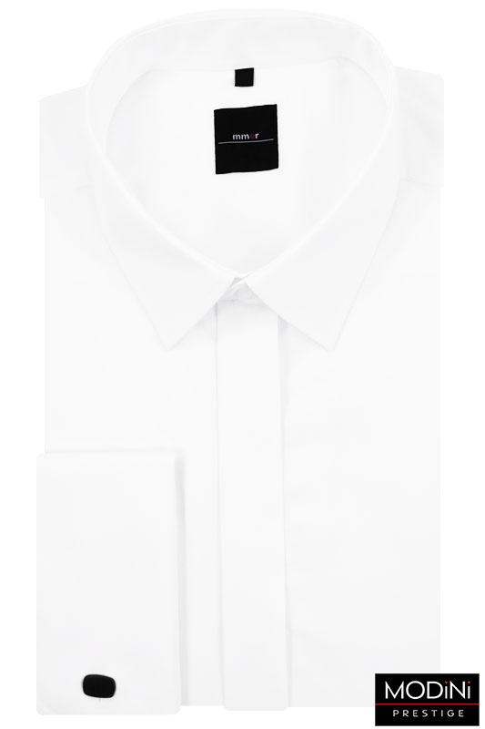 Biała koszula na spinki