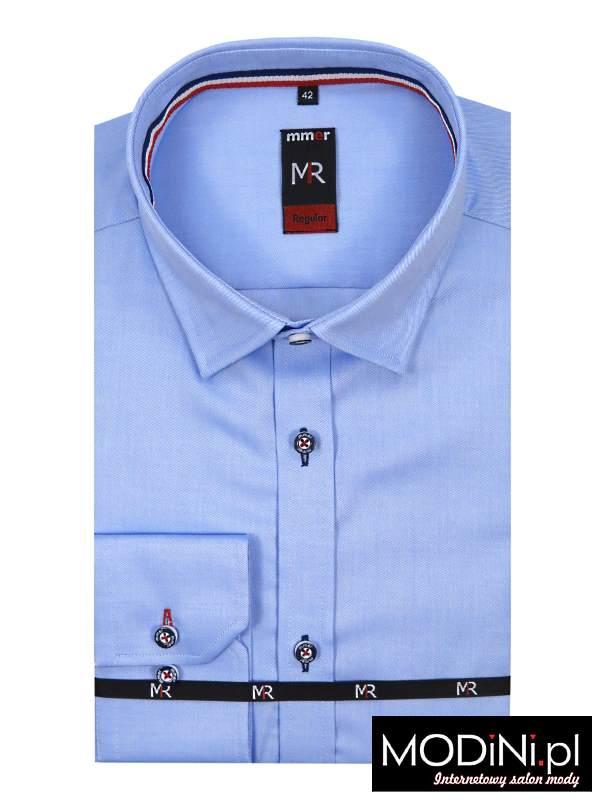 Błękitna koszula z długim rękawem