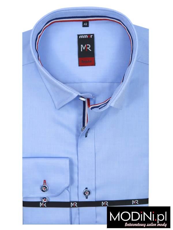Błękitna koszula 100% bawełny