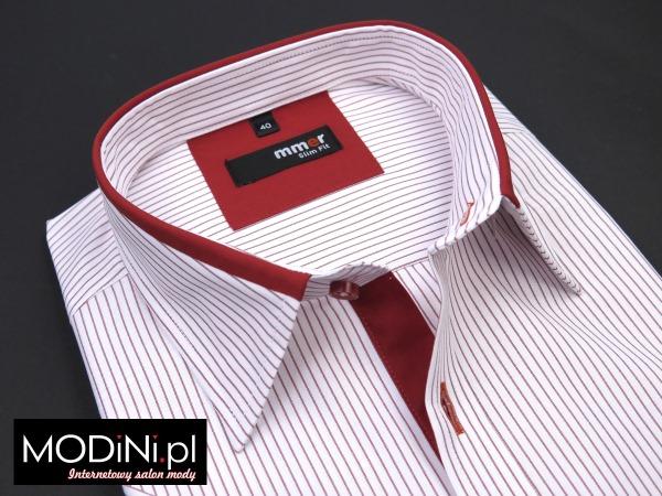 Biało - czerwona koszula męska