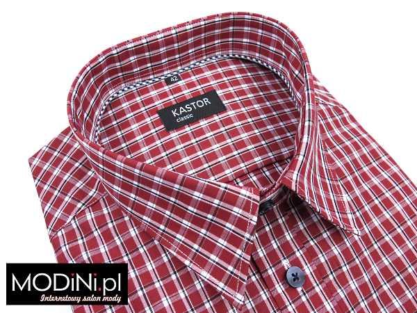 Czerwona koszula krótki rękaw