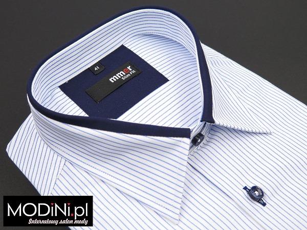 biało niebieska koszula z krótkim rękawem