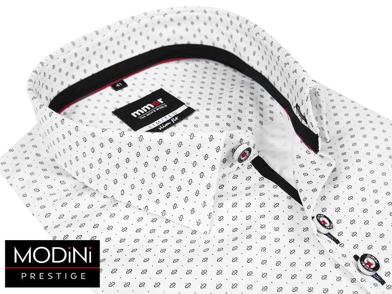 Biała koszula z nadrukiem na bawełnie satynowej