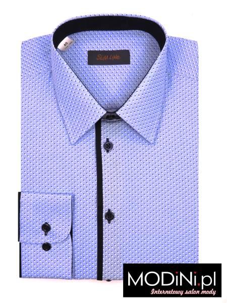Niebieska koszula Polanex w modne kropki