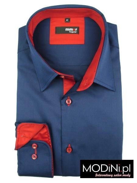 Granatowa koszula slim