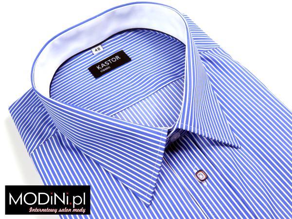 Niebiesko - biała koszula męska