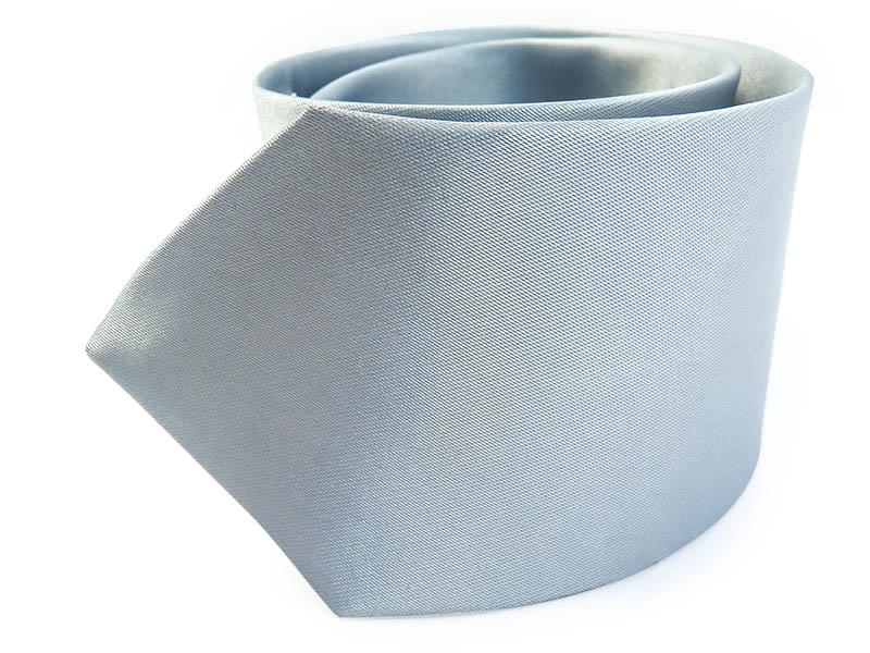 Srebrny krawat z poszetką BK12