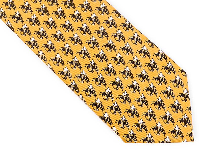 Żółty krawat w osy D143
