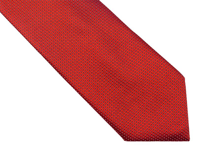 Bordowy krawat w kropki D160