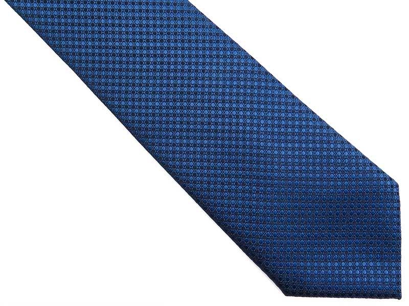 Niebieski krawat męski we wzór D269
