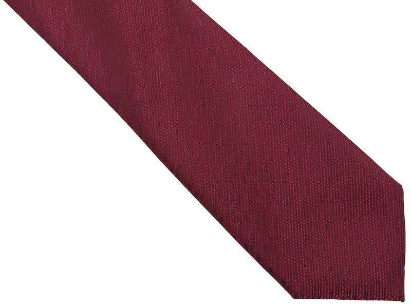 Bordowy krawat męski we wzór D270