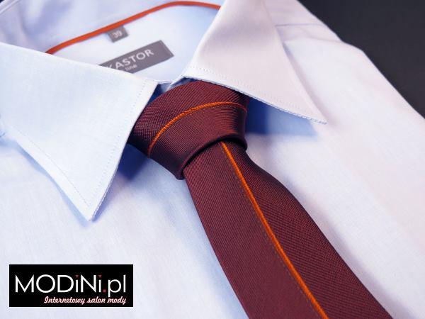 Bordowy krawat panelowy