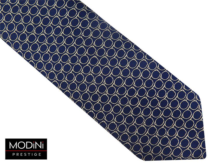 Granatowy krawat męski - okulary D67