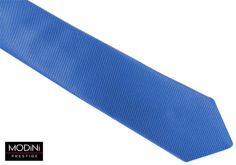 Niebieski krawat męski - delikatne prążki