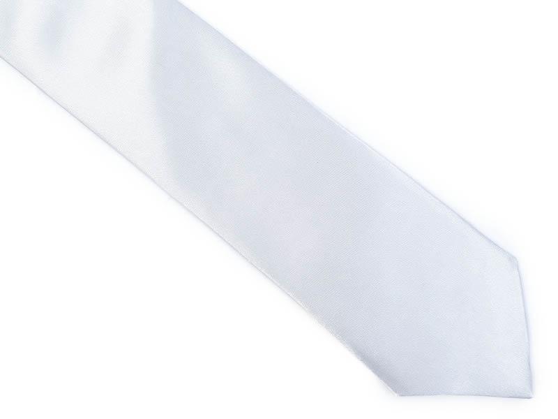 Srebrny krawat z poszetką BK13
