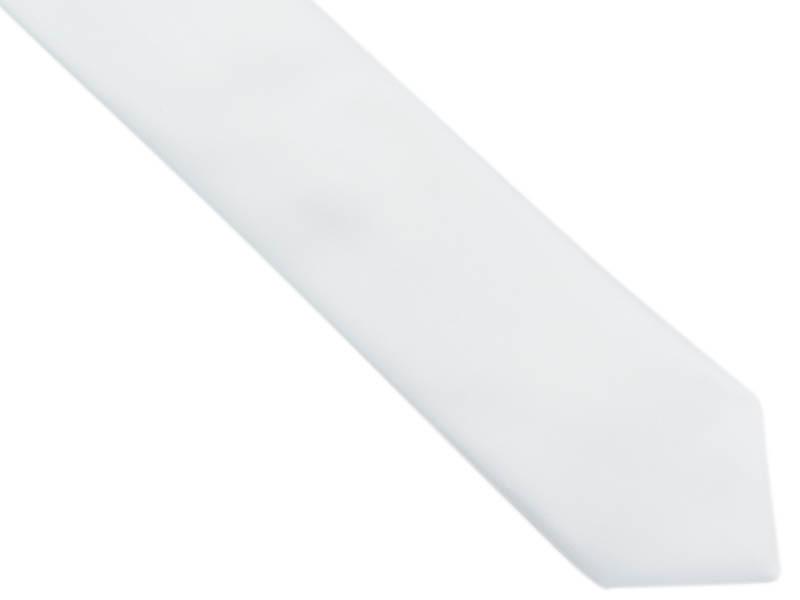 Biały krawat męski z poszetką