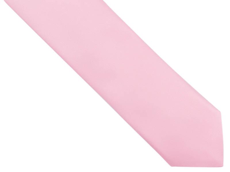 Jasnoróżowy krawat z poszetką