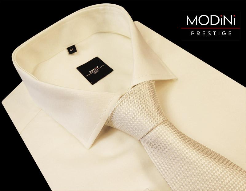 Jasny ecru/ivory krawat ślubny