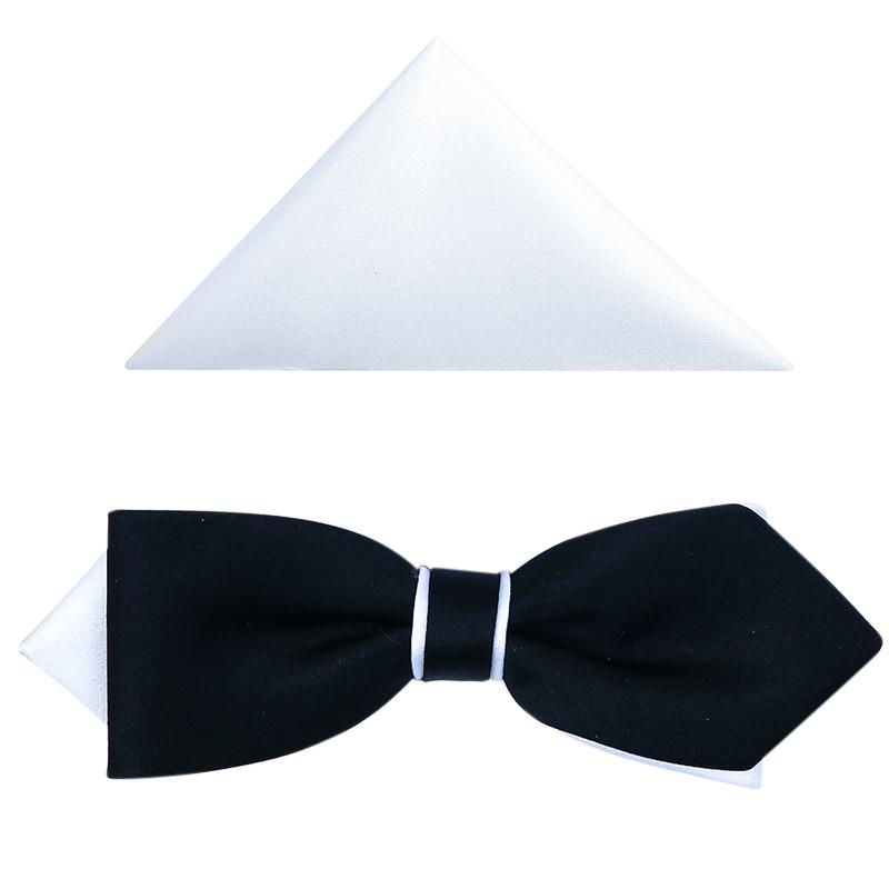 Czarno-biała mucha diament slim B68
