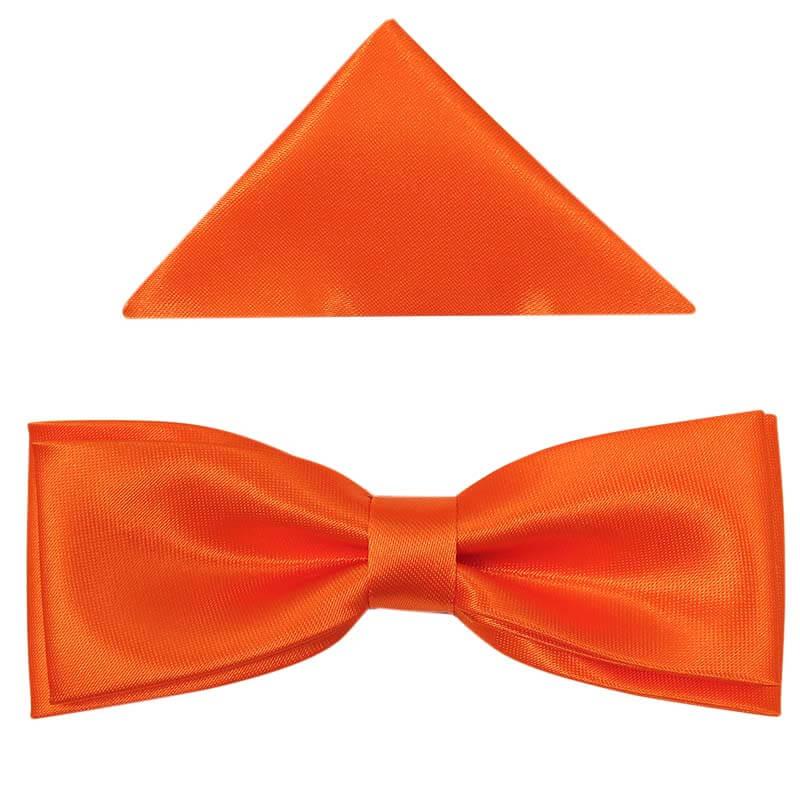 Pomarańczowa mucha slim + poszetka B34