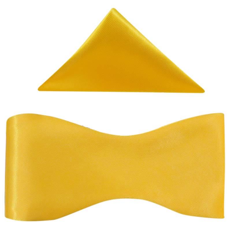 Żółta mucha wiązana z poszetką M19