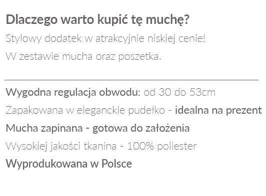 muszka poliester - opis