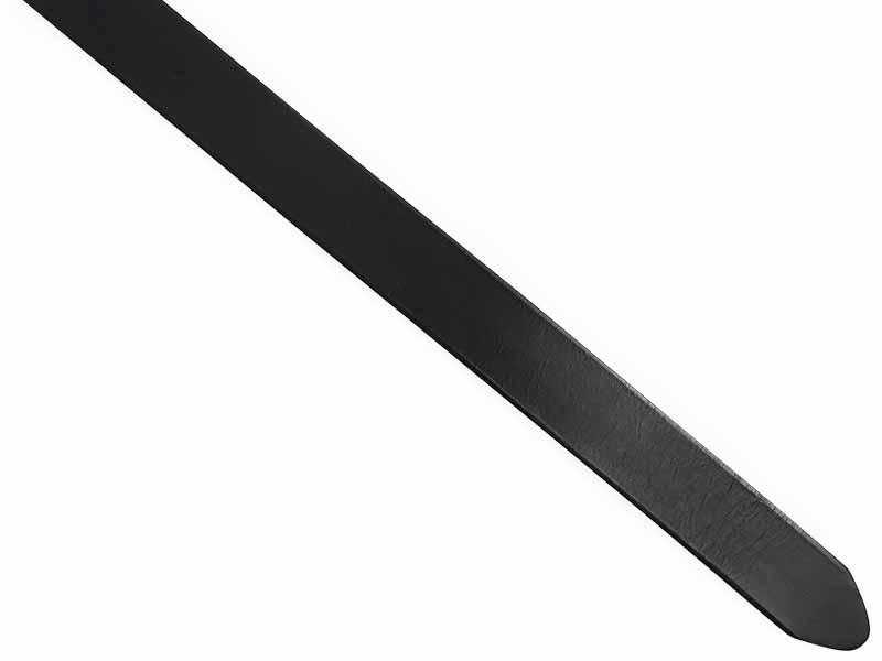 Czarny duży pasek męski z automatyczną klamrą XXL KXL4