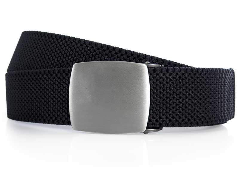 Czarny elastyczny pasek do spodni z automatyczną klamrą PT1