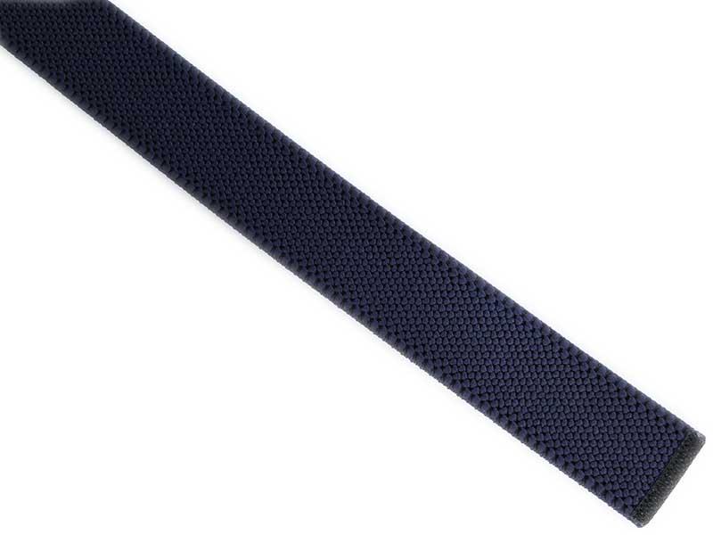 Granatowy elastyczny pasek do spodni z automatyczną klamrą PT2