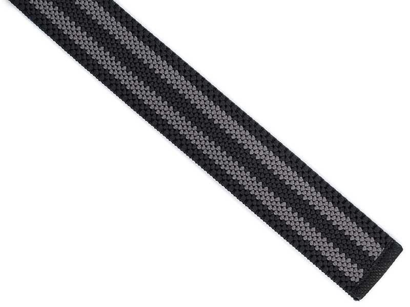 Czarny w szare paski elastyczny pasek do spodni z automatyczną klamrą PT4