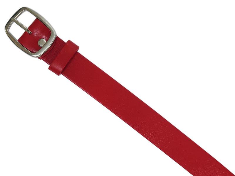 Czerwony pasek damski PD15