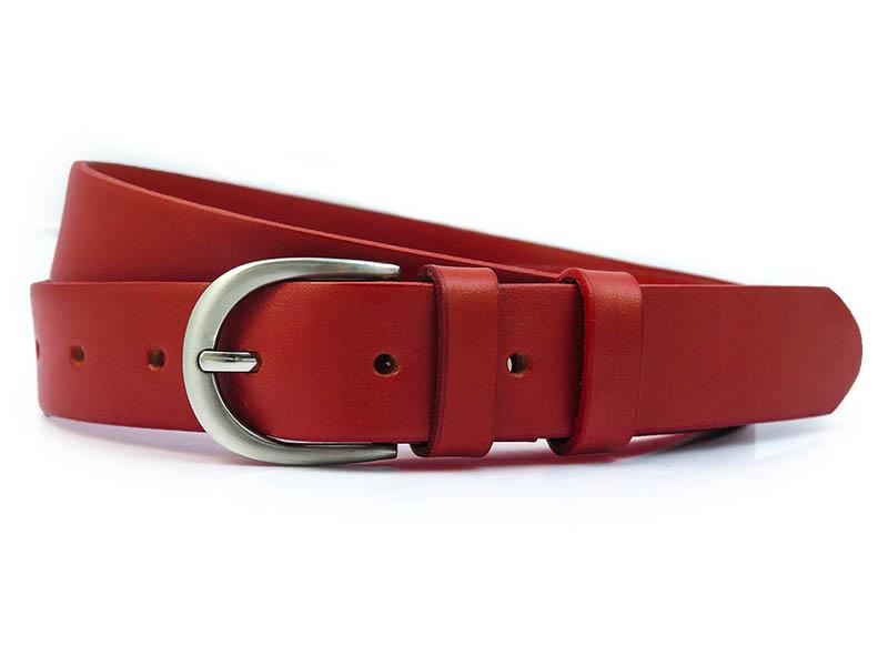 Czerwony pasek damski PD9