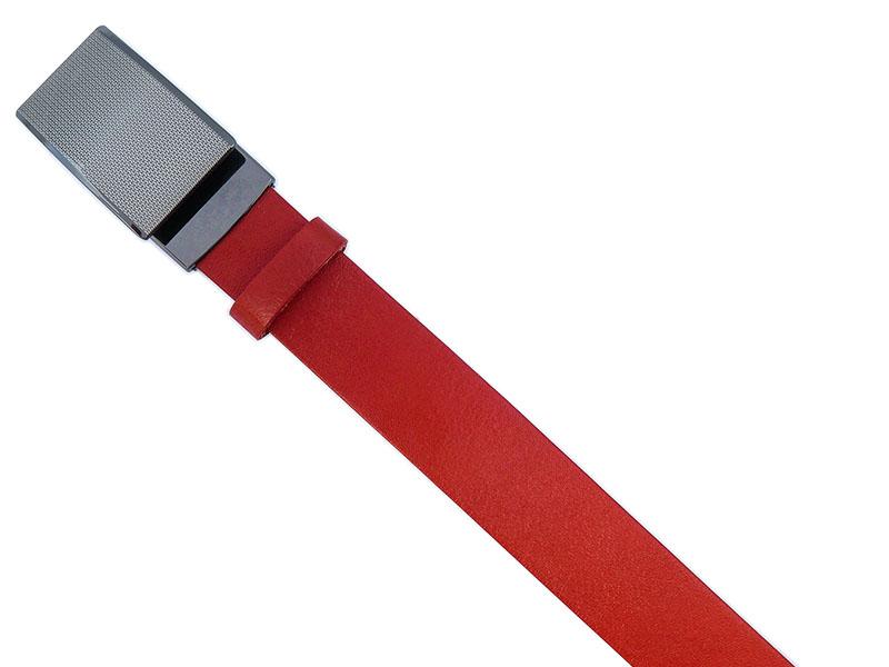 Czerwony męski pasek z automatyczną klamrą KMG20