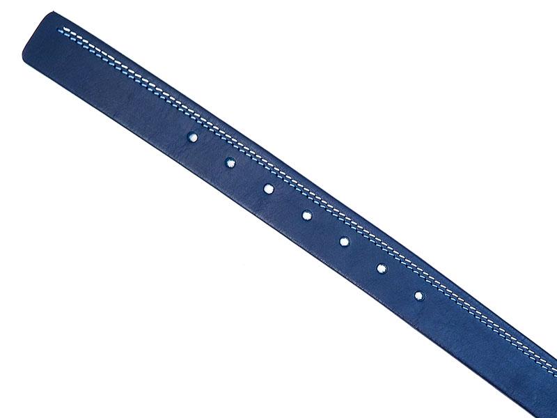 Granatowy pasek z białym i niebieskim przeszyciem KMG24