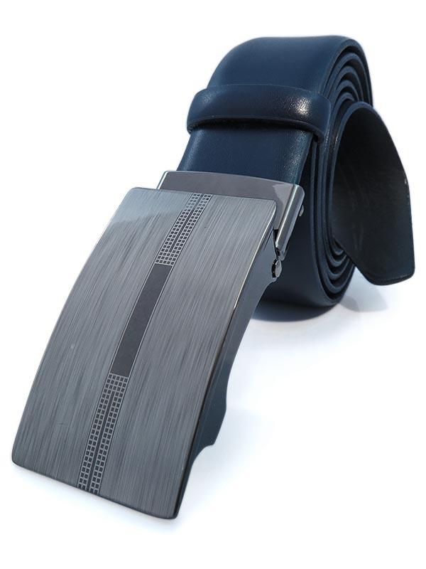 Granatowy męski pasek - automatyczna klamra KMG32