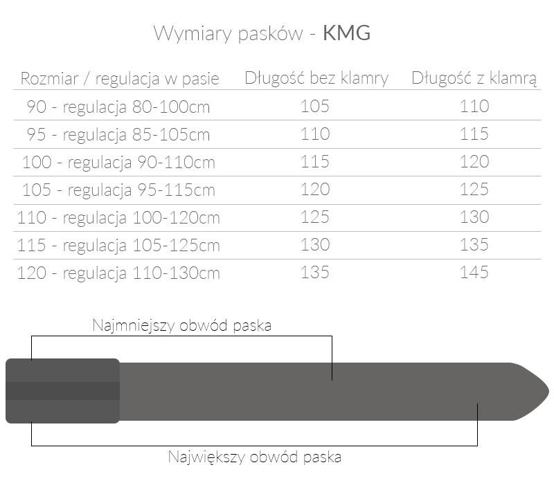 Czarny męski pasek - automatyczna klamra KMG31