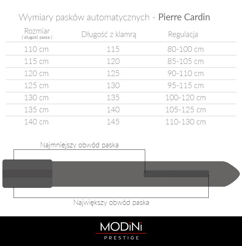 Brązowy pasek Pierre Cardin z automatyczną klamrą PC7