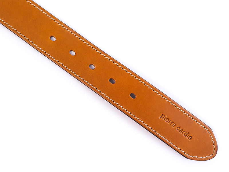 Jasnobrązowy pasek do spodni Pierre Cardin PC23