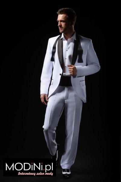 Biały garnitur ślubny