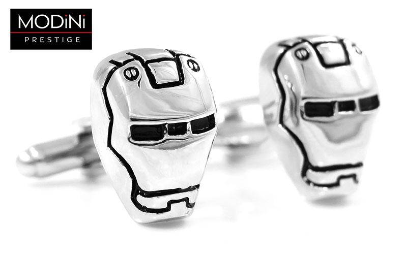 Srebrne spinki do mankietów - Iron Man