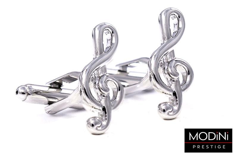 Srebrne spinki do mankietów - klucze wiolinowe