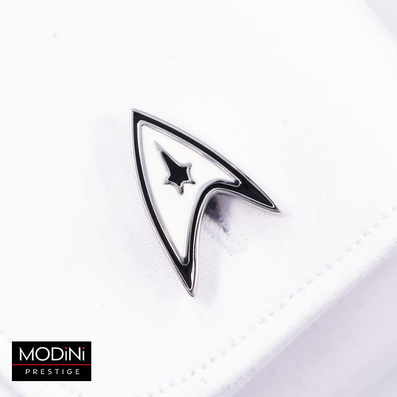 Biało-czarne spinki do mankietów - Star Trek