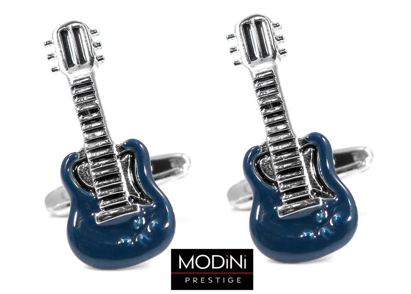 spinki do mankietów - niebieskie gitary