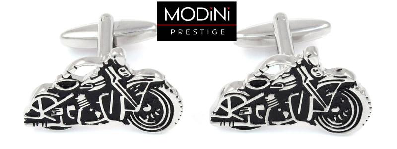 srebrne spinki do mankietów - motocykle