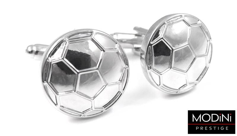 srebrne spinki do mankietów w kształcie piłek