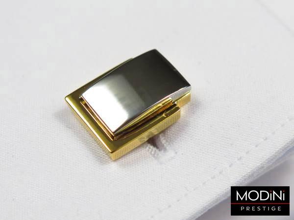 złoto-srebrne spinki do mankietów