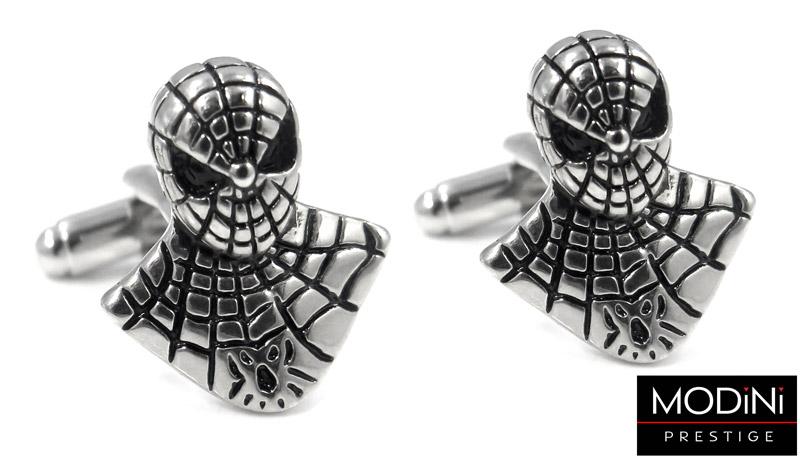 spinki do mankietów - spiderman