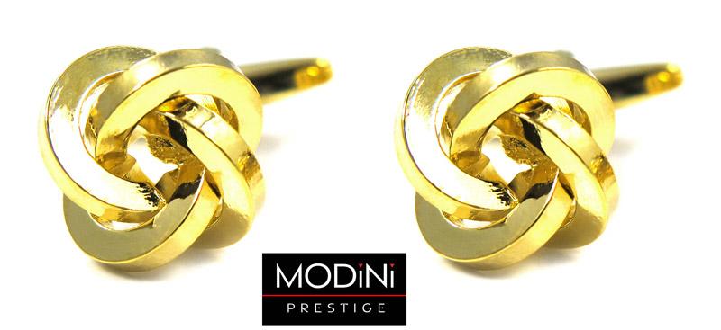 spinki do mankietów - złote węzełki